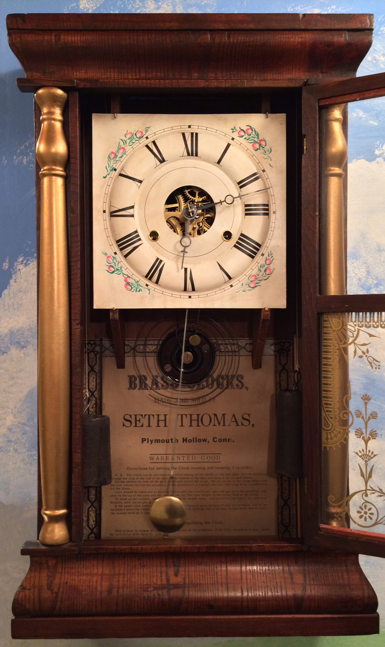 Indianarog and the temple of steam miniature steam engines by the dial seen below is correct for this clock though found separately on ebay it had a lot of flaking paint seen on many older seth thomas zinc dials amipublicfo Choice Image